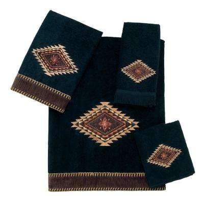 Mojave 4-Piece Bath Towel Set in Black