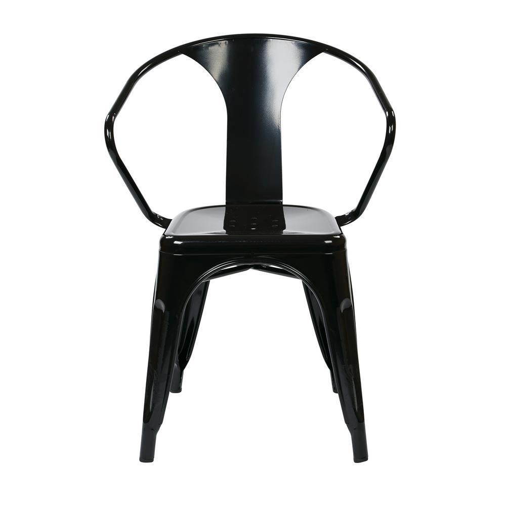 Patterson Black Metal Chair (Set of 2)