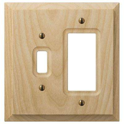 1 Toggle 1 Decora Wall Plate - Un-Finished Wood