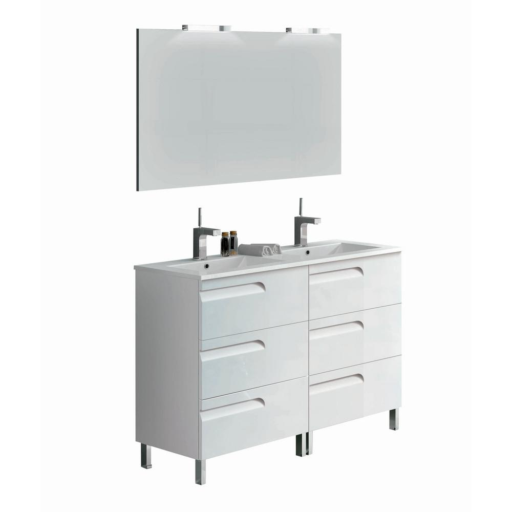Eviva Vanity White Porcelain Top White Basin