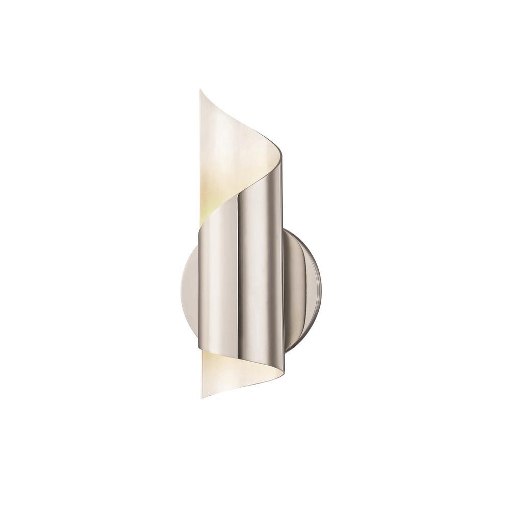Evie 1-Light Polished Nickel LED Wall Sconce
