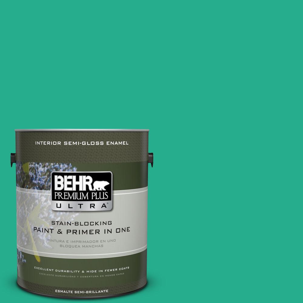 1-gal. #P430-5 Enchanted Wells Semi-Gloss Enamel Interior Paint