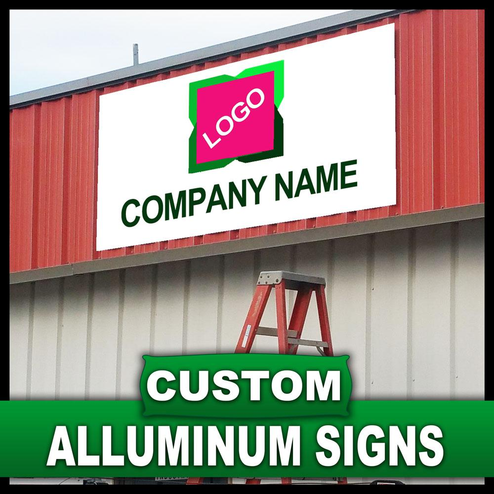 Lynch Sign 18 in. x 24 in. Custom Aluminum Sign, Unlimited Colors Click start on first bullet point below to create your custom aluminum sign. When you are looking for a perfectly smooth, glossy painted finish, aluminum signs project a premium quality image. Aluminum is ideal for permanent or long-term outdoor business signs, parking lot signs and custom real estate signs. Aluminum is also ideal for that special look for modern interiors. Lightweight aluminum results in easier installation and a range of uses with full color UV printing. Aluminum signs are designed to stay rust-free and weather resistant providing a high-quality and long-term value. Aluminum can be mounted to nearly any surface. Aluminum is a durable and versatile material designed for a wide variety of outdoor uses, including site signs, directional signs, parking signs, yard signs, security signs and identification signs. Start creating your design online now using any of the free designer templates we've provided to help you create your perfect sign or upload your own design. Whether you're building your brand, promoting an event, creating street signage for your community, business or school, you'll save time and money creating your banners with our free, easy-to-use banner templates. Your aluminum signs will come with either two or four drilled holes depending on the size of the sign. It's easy to start designing your great looking Aluminum Signs now. Click on the link below to get started. Color: Unlimited Colors.