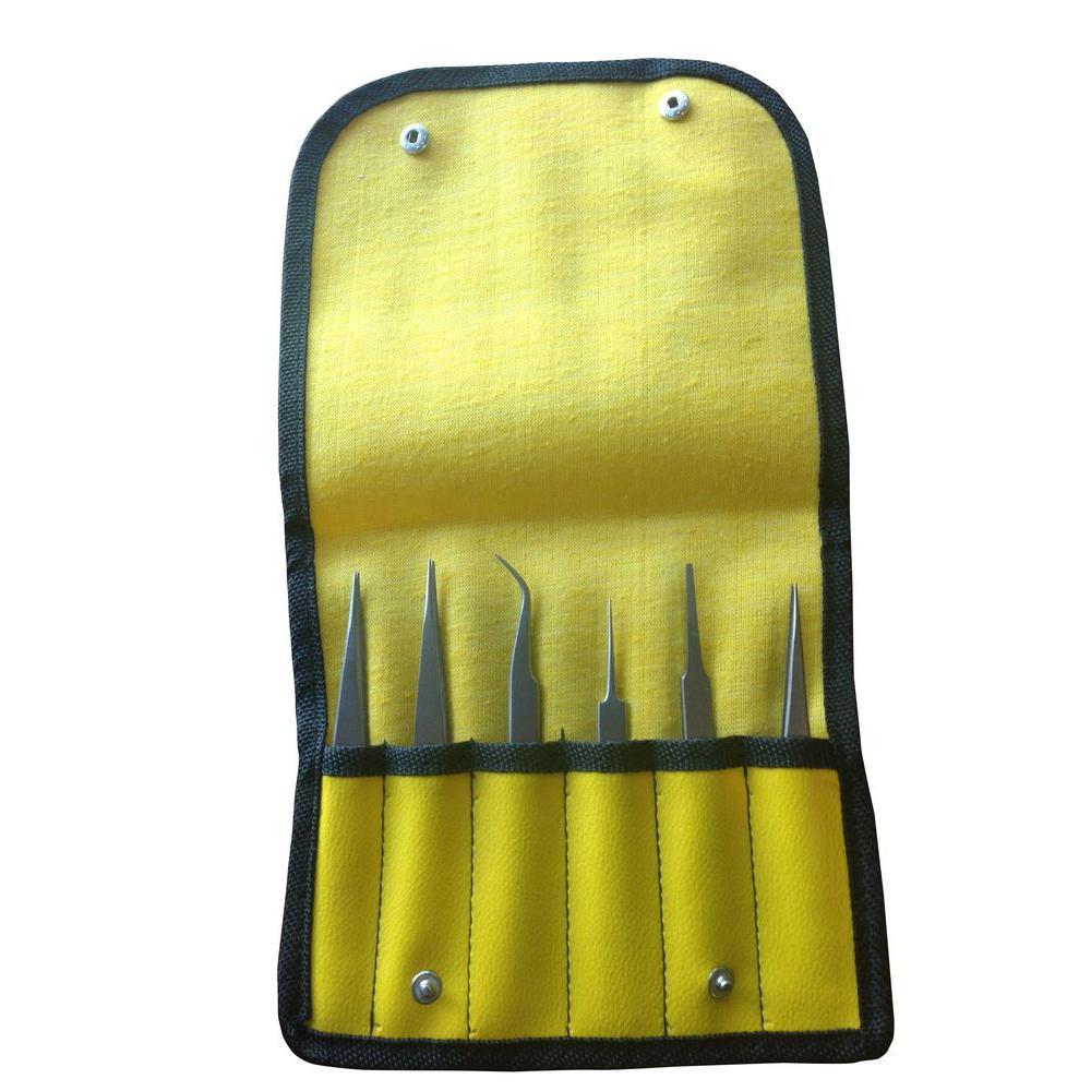 Titanium Tweezers Set (6-Piece)