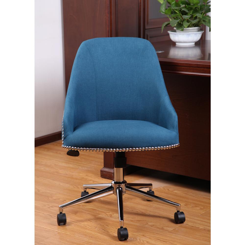 Boss Peacock Blue Carnegie Desk Chair B516C-PB