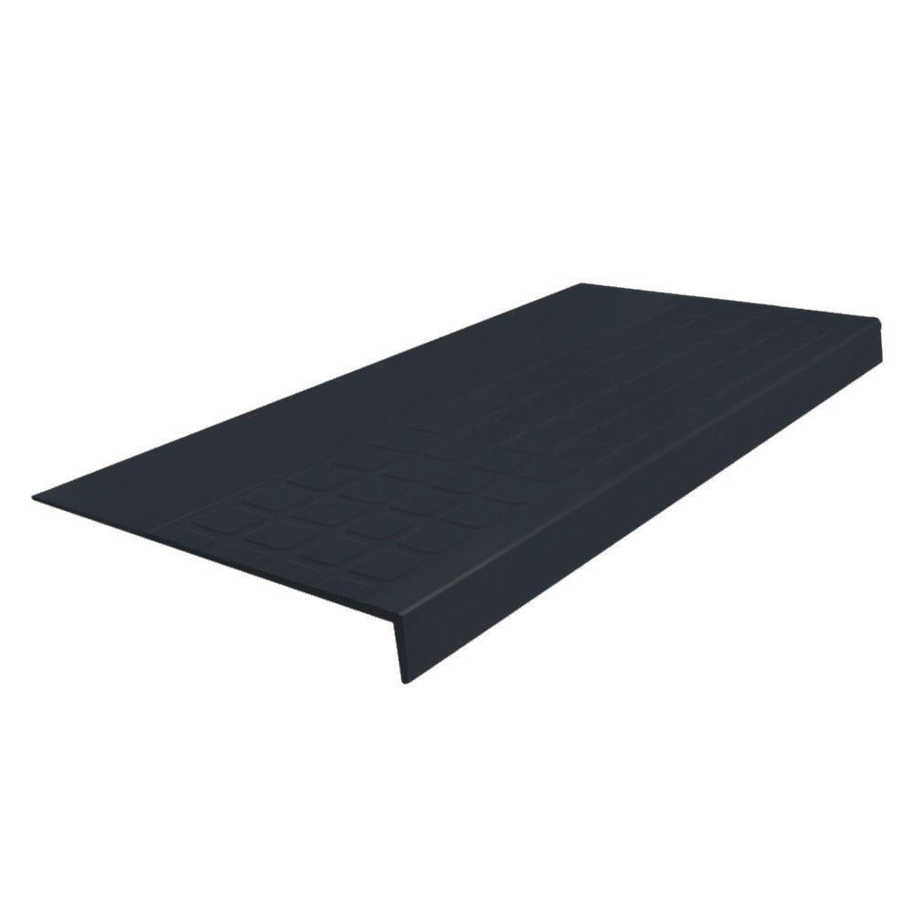 Square Profile Dark Gray 12.31 in. x 48 in. Rubber Square