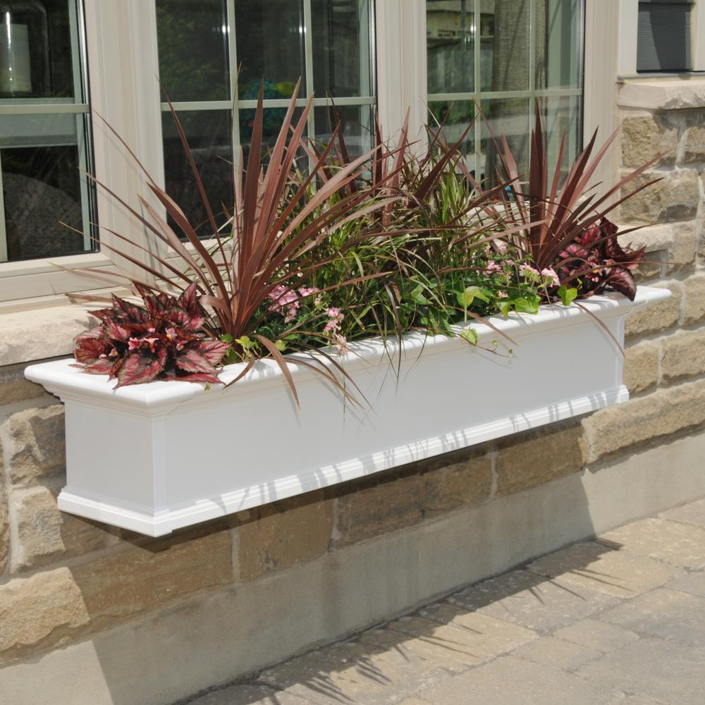 Mayne Yorkshire 12 In X 60 In Vinyl Window Box 4825w