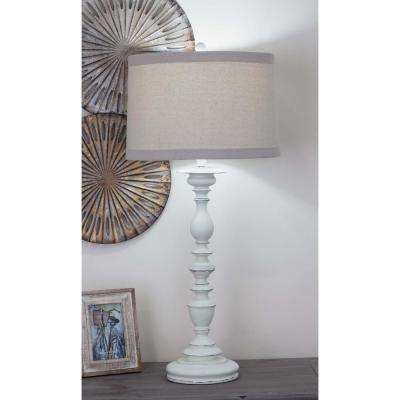 33 in. Classic Polystone Baluster Table Lamp