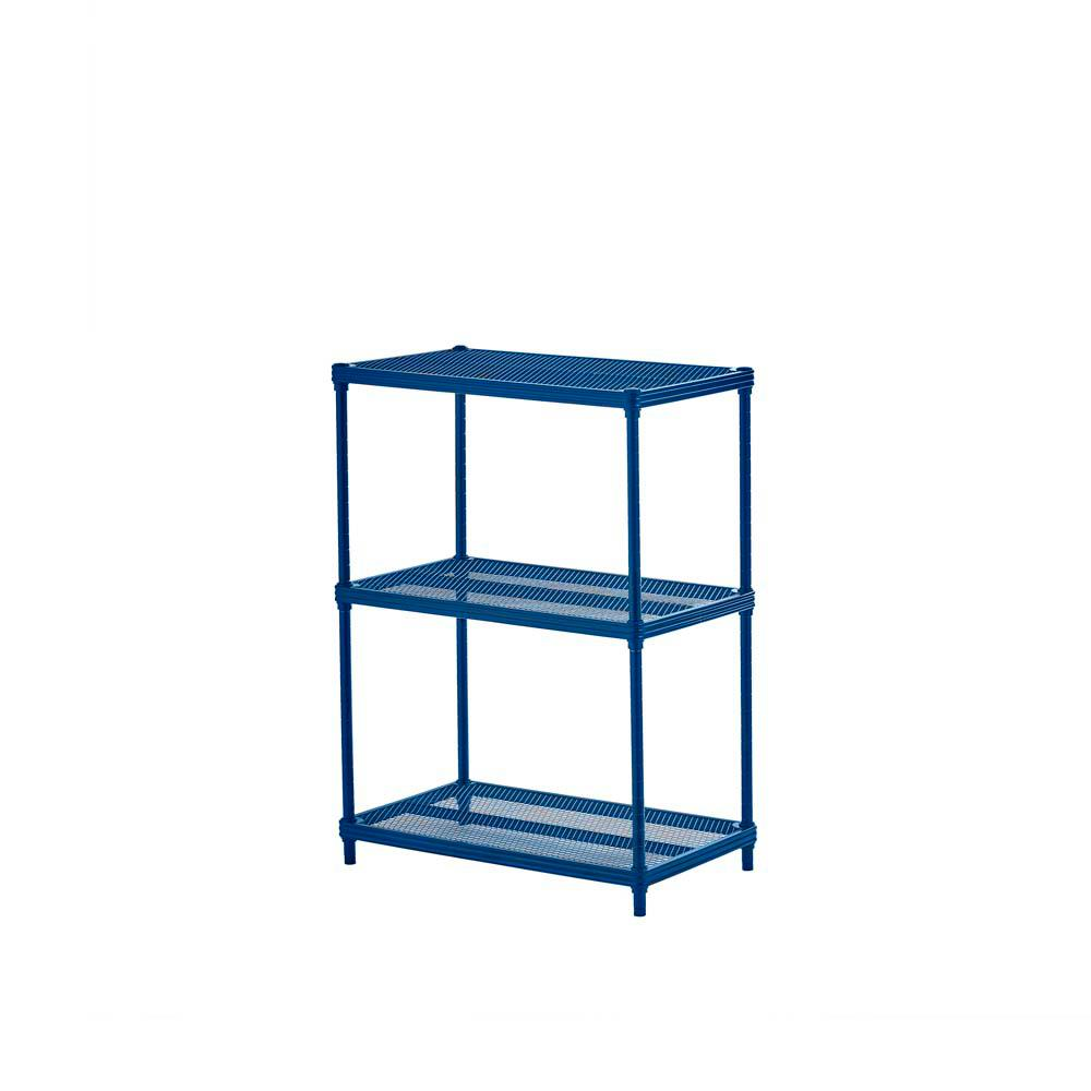 MeshWorks 3-Shelf Metal Petrol Blue Freestanding Shelving Unit