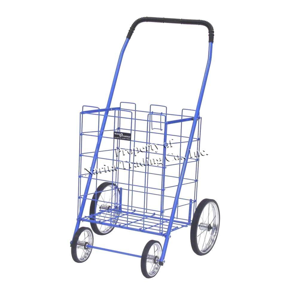 Easy Wheels Mitey Shopping Cart in Blue