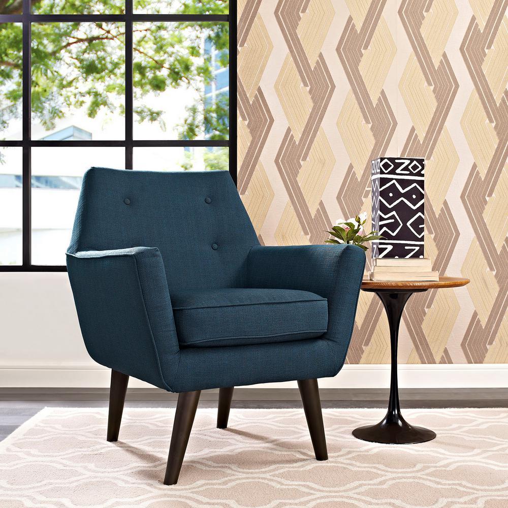 MODWAY Posit Azure Upholstered Armchair EEI-2136-AZU