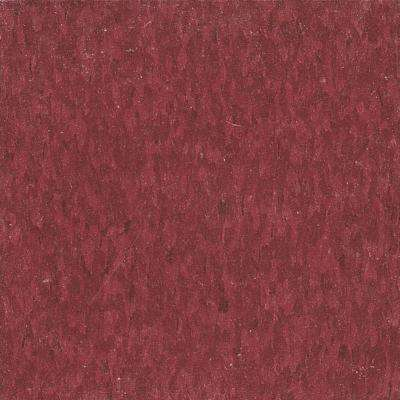 Take Home Sample - Imperial Texture VCT Pomegranate Red Standard Excelon Commercial Vinyl Tile - 6 in. x 6 in.