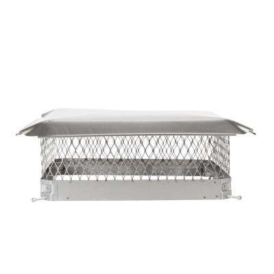 20 in. x 20 in. Bolt-On Single Flue Chimney Cap in Stainless Steel