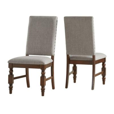 Maxine Smoke Linen Dining Chair (Set of 2)
