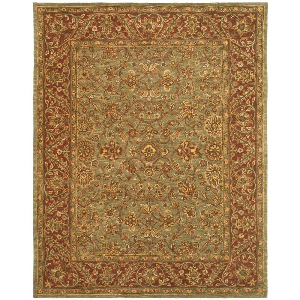 Safavieh Golden Jaipur Green Rust 9 Ft 6 In X 13 Area Rug Gj250a 10 The Home Depot