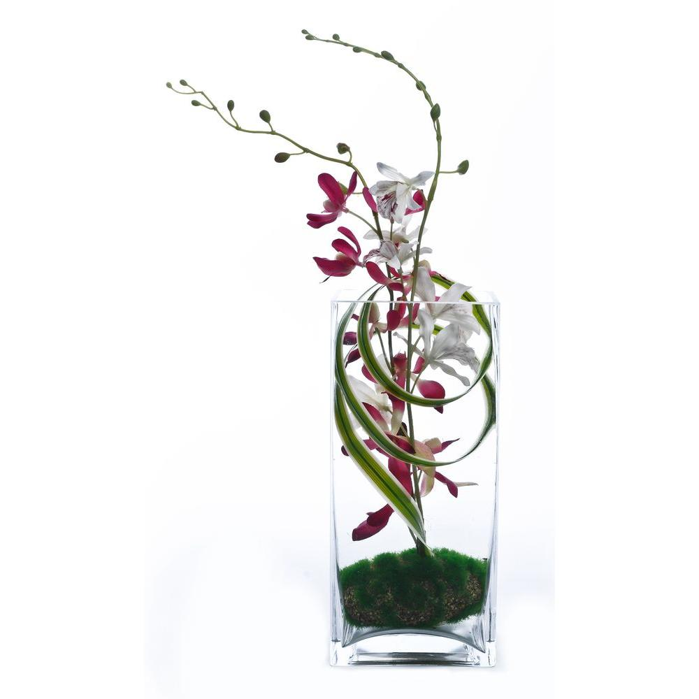 Artesia Designs White and Pink Orchids Floral Arrangement