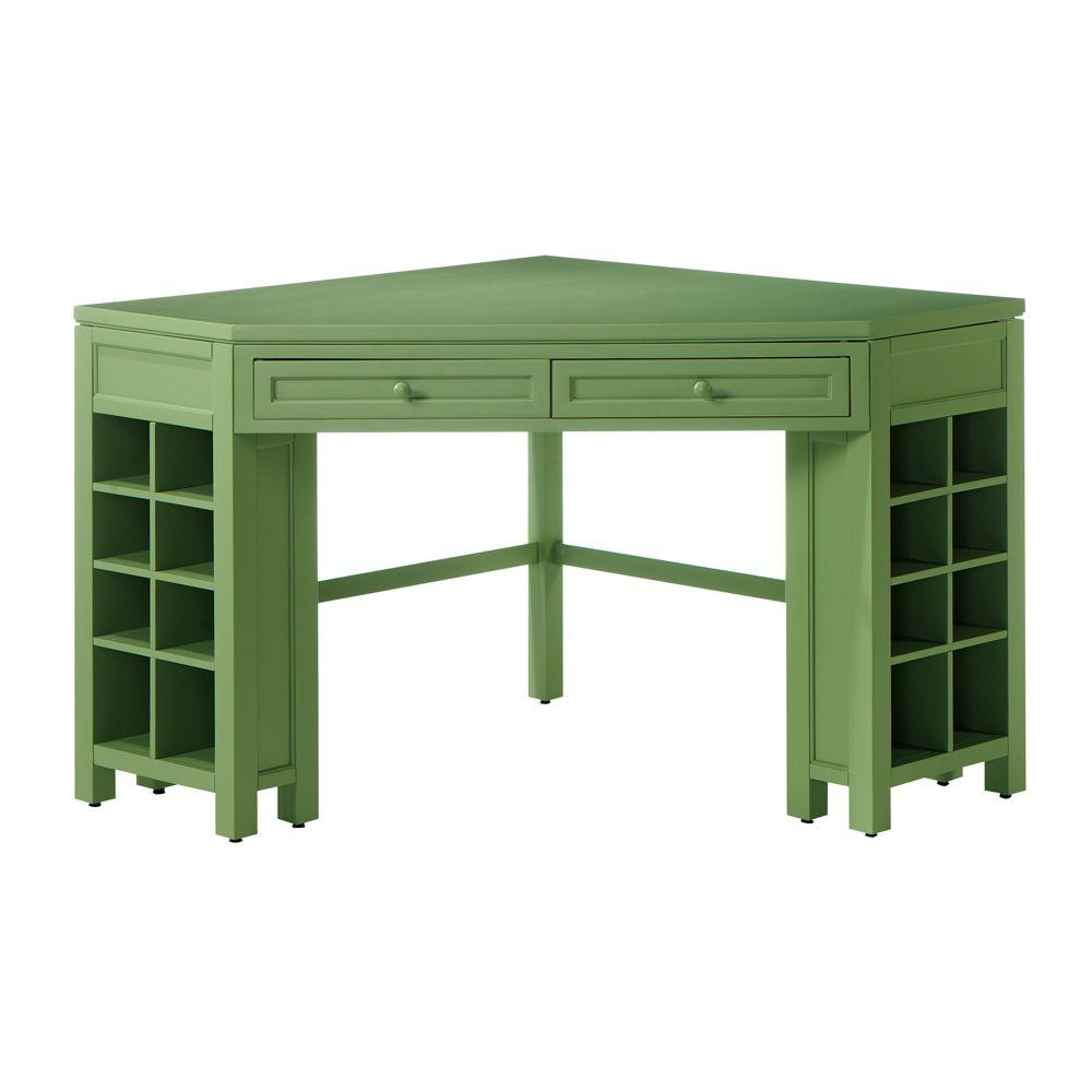 crafting desk with storage martha stewart living rhododendron leaf corner craft table 4108