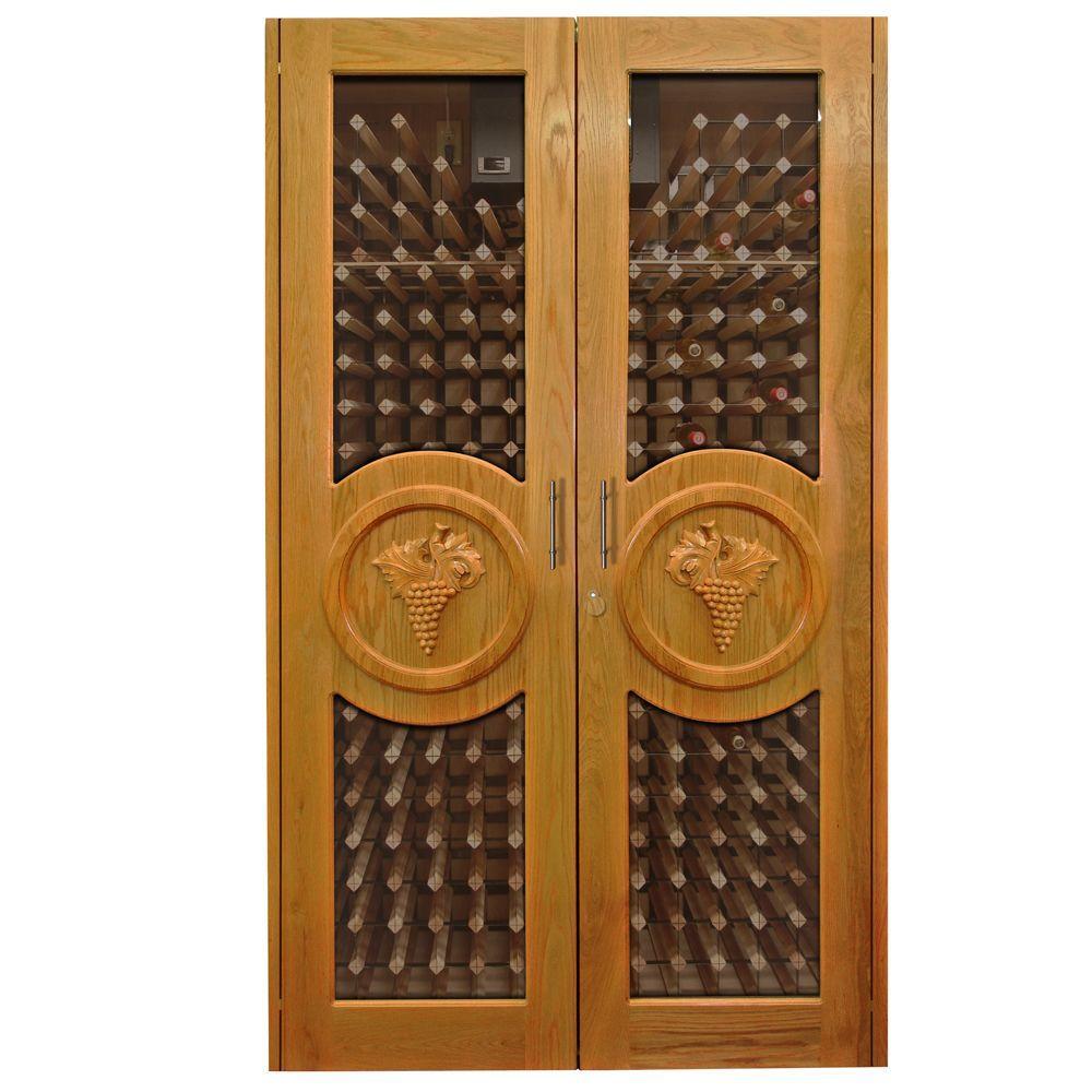 440bottle decorative wine cellar in rich brown - Vinotemp
