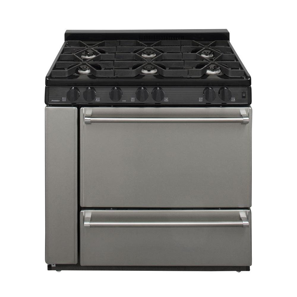 Premier ProSeries 36 in. 3.91 cu. ft. Freestanding Gas Range in Stainless Steel