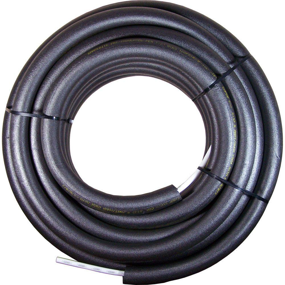 Sharkbite 3 4 in x 100 ft insulated pex pipe u870i100 for Pex drain pipe