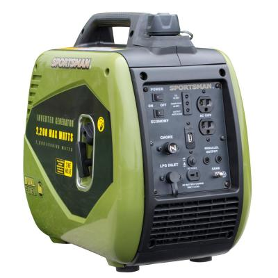 2,200/1,800-watt Dual Fuel LPG/Gasoline Powered Recoil Start Portable Inverter Generator with Parallel Capacity