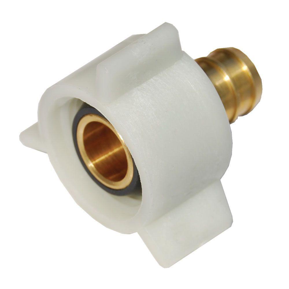 3/8 in. PEX Barb x FIP Brass Swivel Adapter Fitting