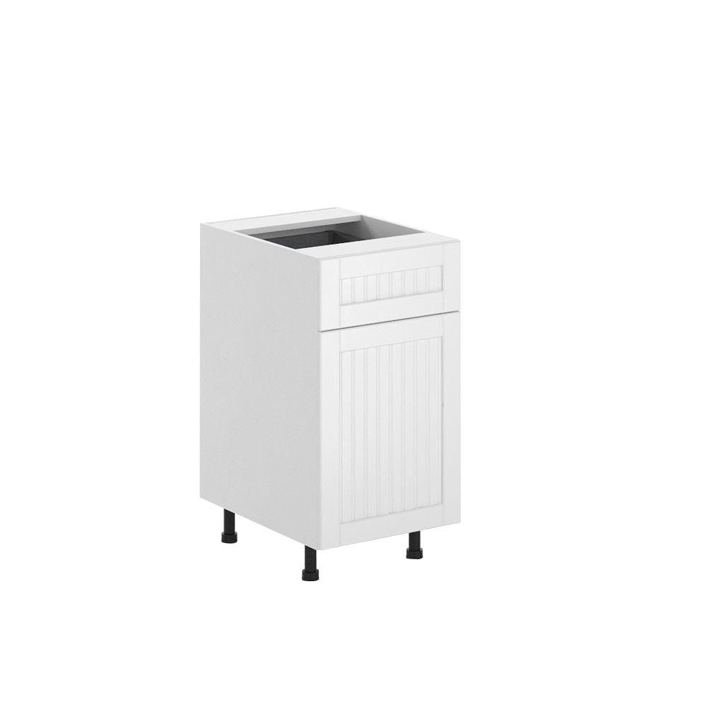 Ready to Assemble 18x34.5x24.5 in. Odessa Base Cabinet in White Melamine
