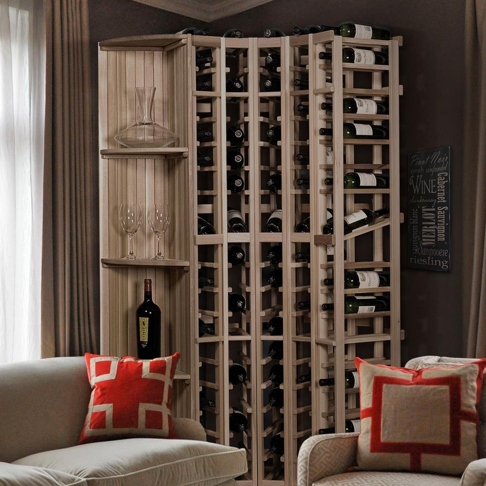 85-Bottle Pine Floor Wine Rack