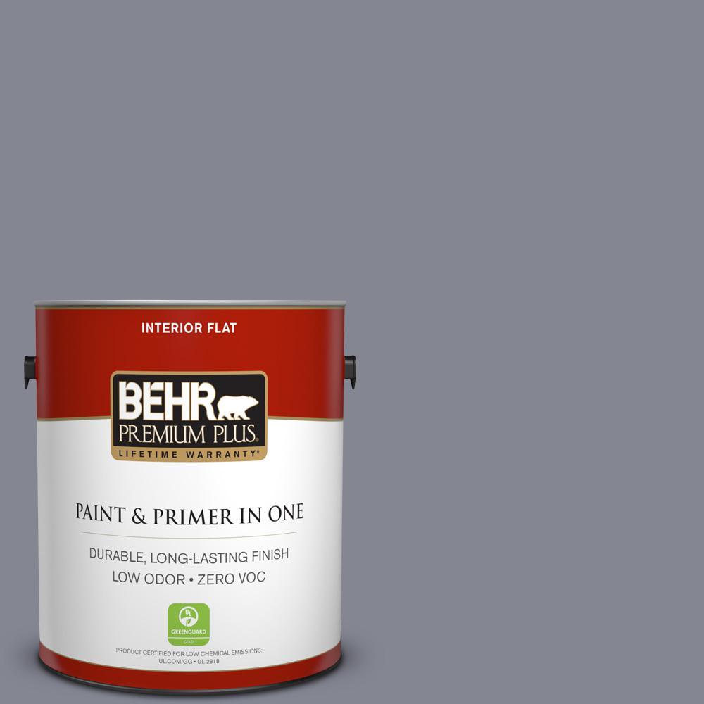 1 gal. #PPU16-15 Gray Heather Zero VOC Flat Interior Paint