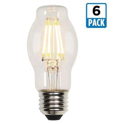 40W Equivalent Soft White BT15 Dimmable Filament LED Light Bulb (6-Pack)