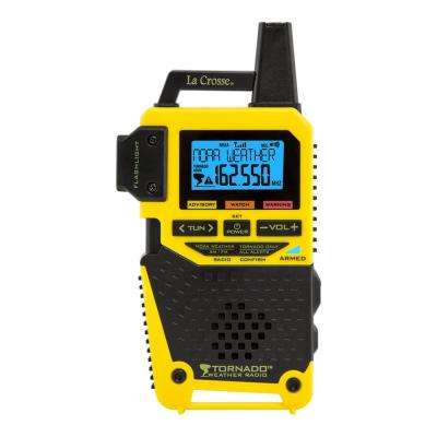 NOAA/AM/FM Weather Alert Radio with 1-Button Tornado Alert