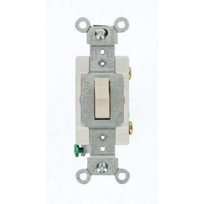 15 Amp Commercial Grade Single Pole Toggle Switch, Light Almond