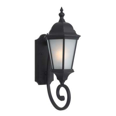 Brielle Collection 2-Light Black Outdoor Wall-Mount Lamp