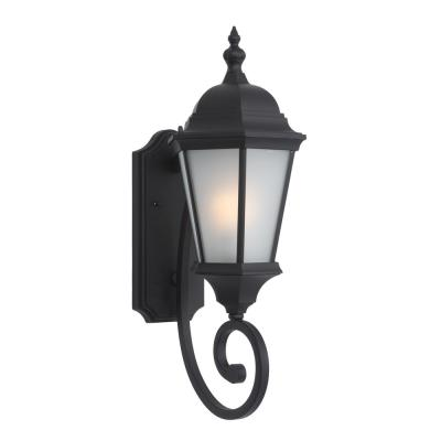 Brielle Collection 2-Light Black Outdoor Wall Lantern Sconce