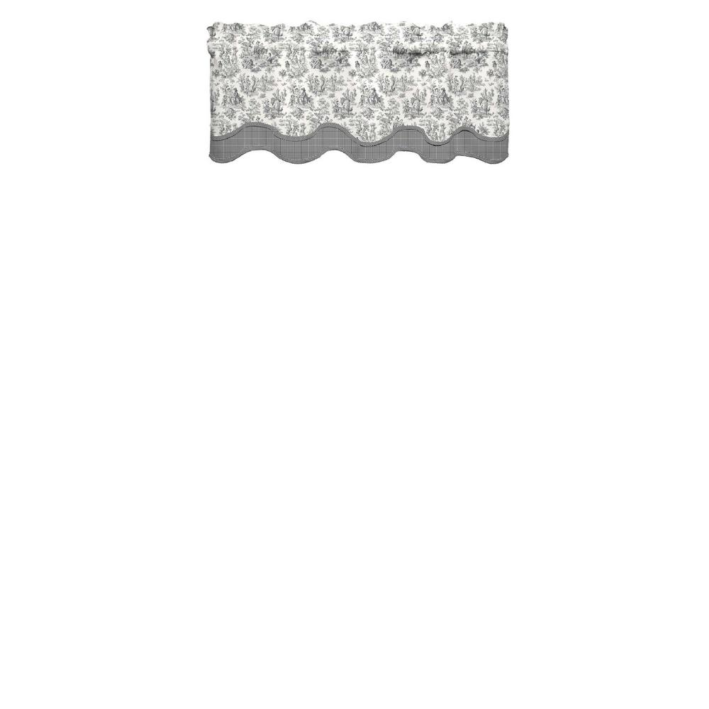 Waverly Charmed Life 52 in. W x 18 in. L Cotton Rod Pocket Window Valance in Onyx