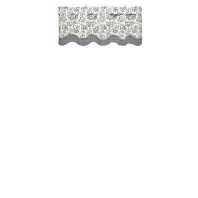 Charmed Life 52 in. W x 18 in. L Cotton Rod Pocket Window Valance in Onyx