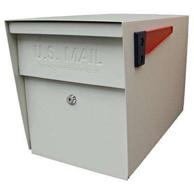 Locking Post-Mount Mailbox with High Security Patented Lock, White