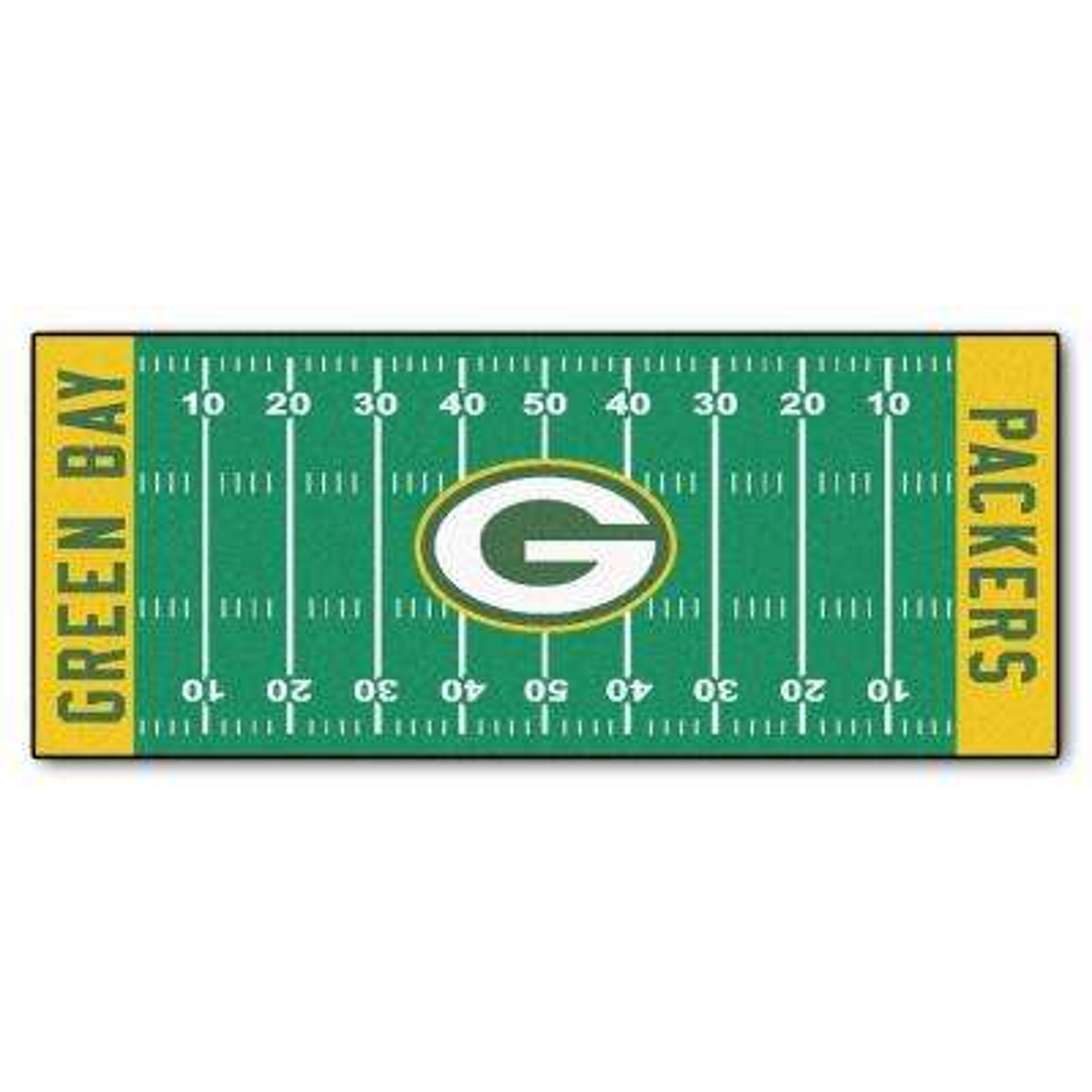 Green Bay Packers 3 ft. x 6 ft. Football Field Rug Runner Rug