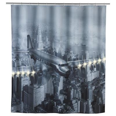 79 in. LED Shower Curtain Old Plane