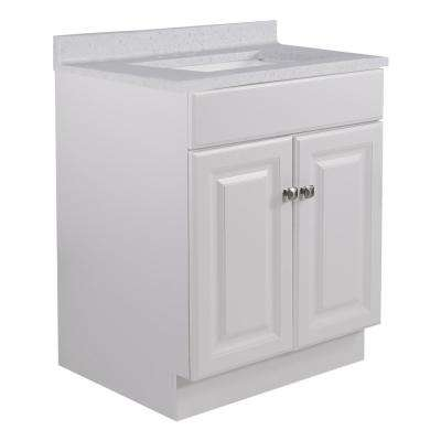 24 in. x 21 in. x 31.5 in. 2-Door Bath Vanity in White w/ 4 in. Centerset CM Frost Vanity Top w/ Basin in White