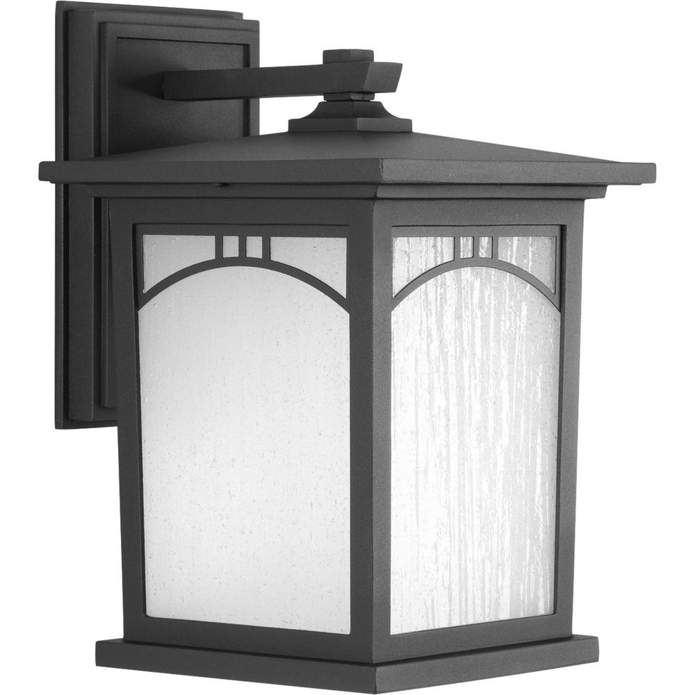 Residence Collection 1-Light Outdoor 8 Inch Textured Black LED Wall Lantern