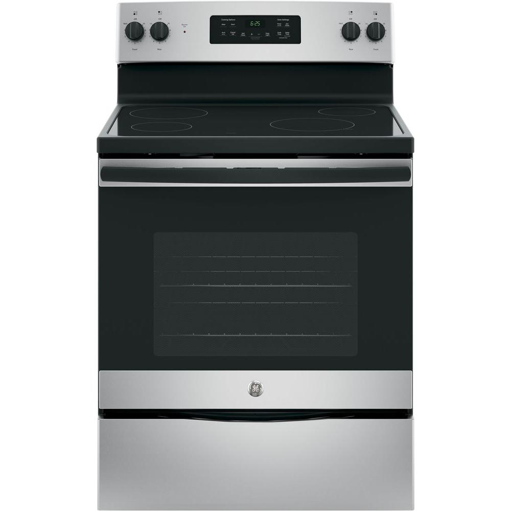 30 in. 5.3 cu. ft. Free-Standing Electric Range in Silver