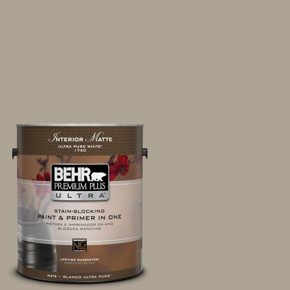 BEHR Premium Plus Ultra Home Decorators Collection 1 gal. #HDC-NT-14 Smoked Tan Flat/Matte Interior Paint