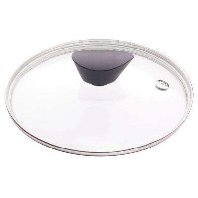 12 in. Earth Frying Pan Lid in Tempered Glass