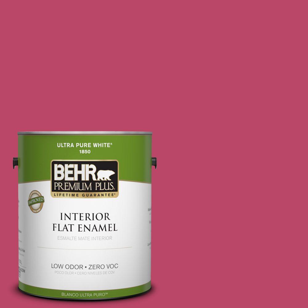 BEHR Premium Plus 1-gal. #S-G-110 Orchid Rose Zero VOC Flat Enamel Interior Paint-DISCONTINUED