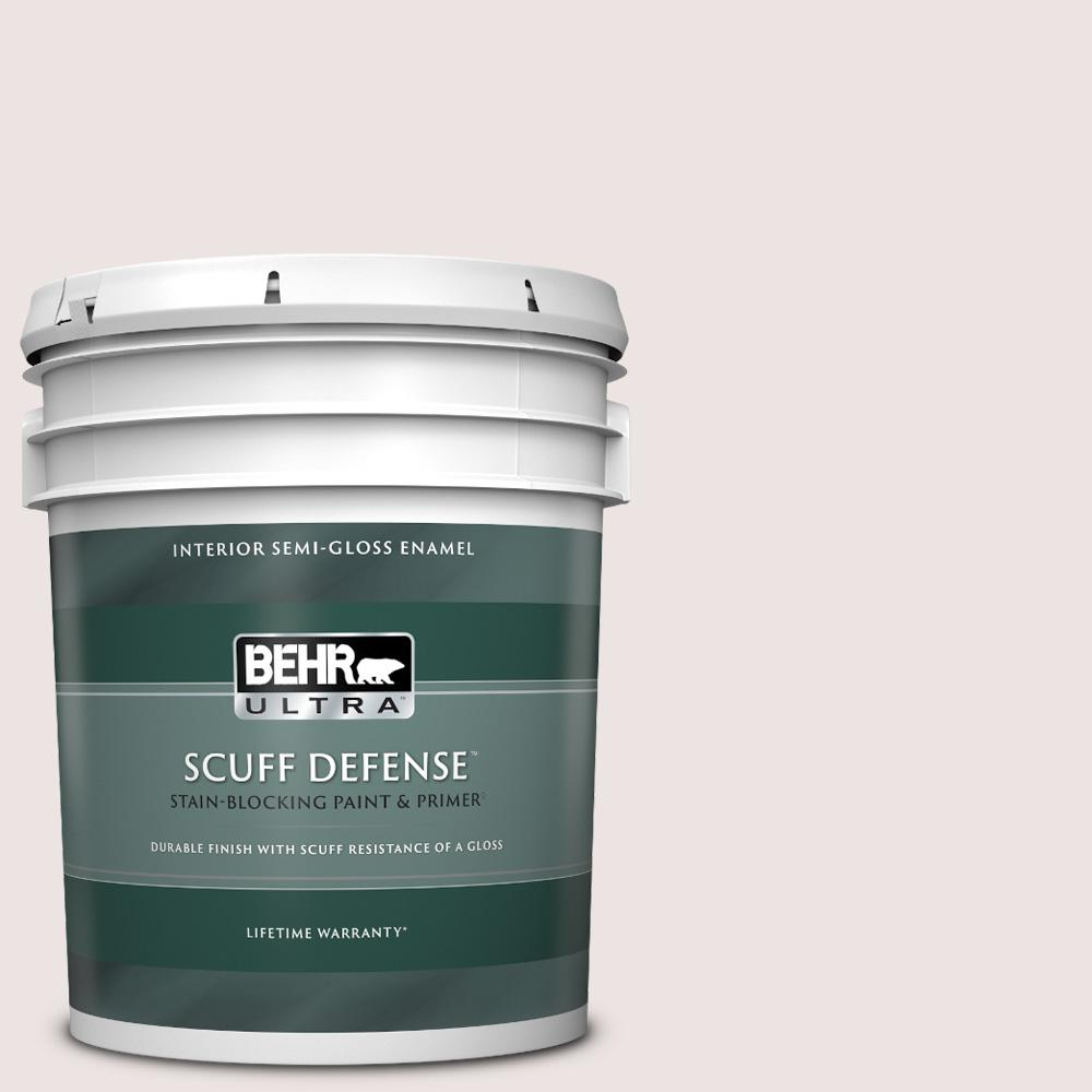 Reviews For Behr Ultra 5 Gal 110e 1 Whimsical White Extra Durable Semi Gloss Enamel Interior Paint Primer 375005 The Home Depot