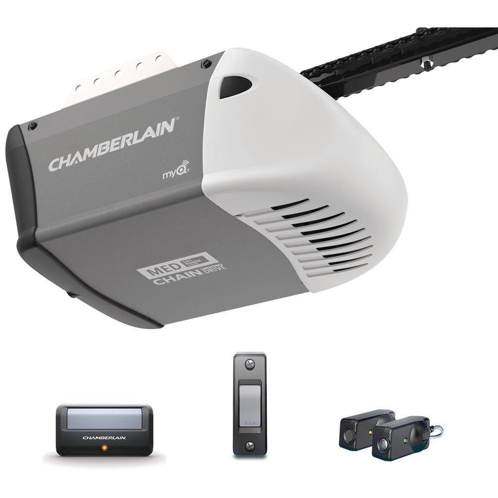 Chamberlain 1 2 Hp Heavy Duty Chain Drive Garage Door Opener C205 The Home Depot