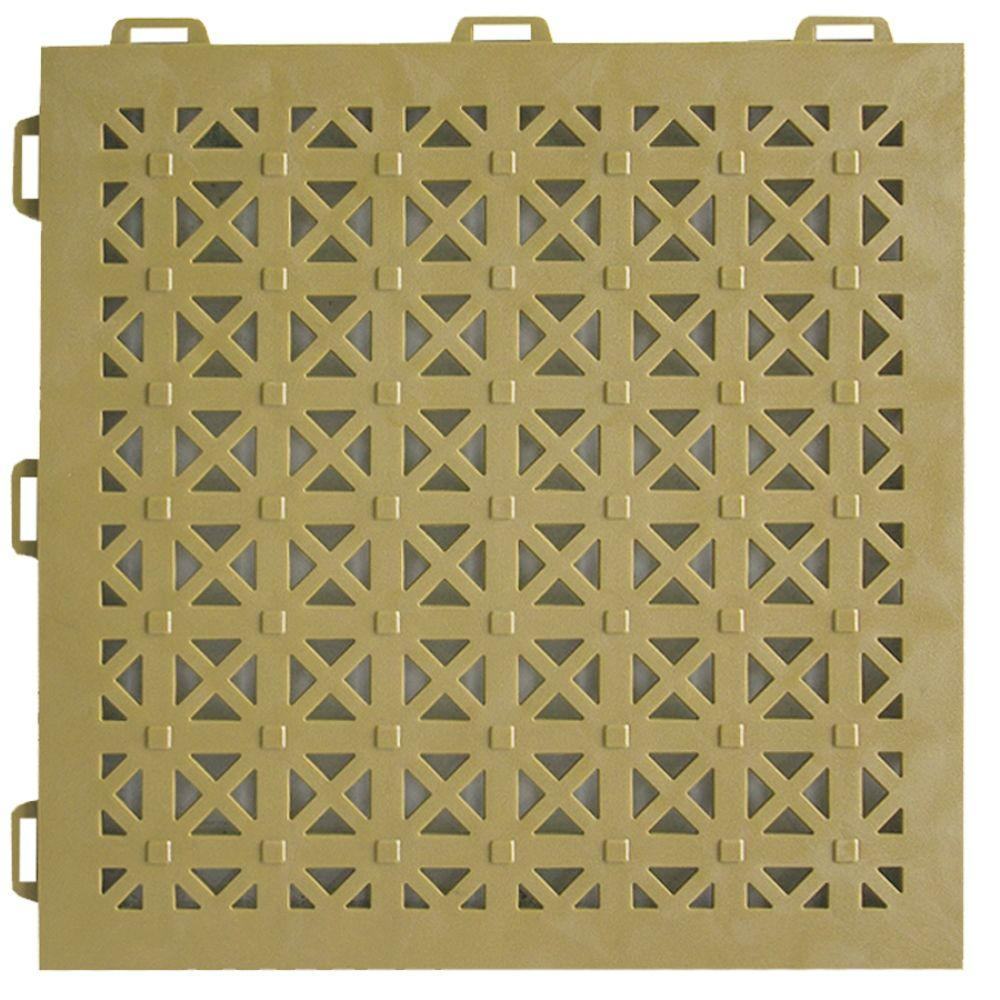 StayLock Perforated Tan 12 in. x 12 in. x 0.56 in.