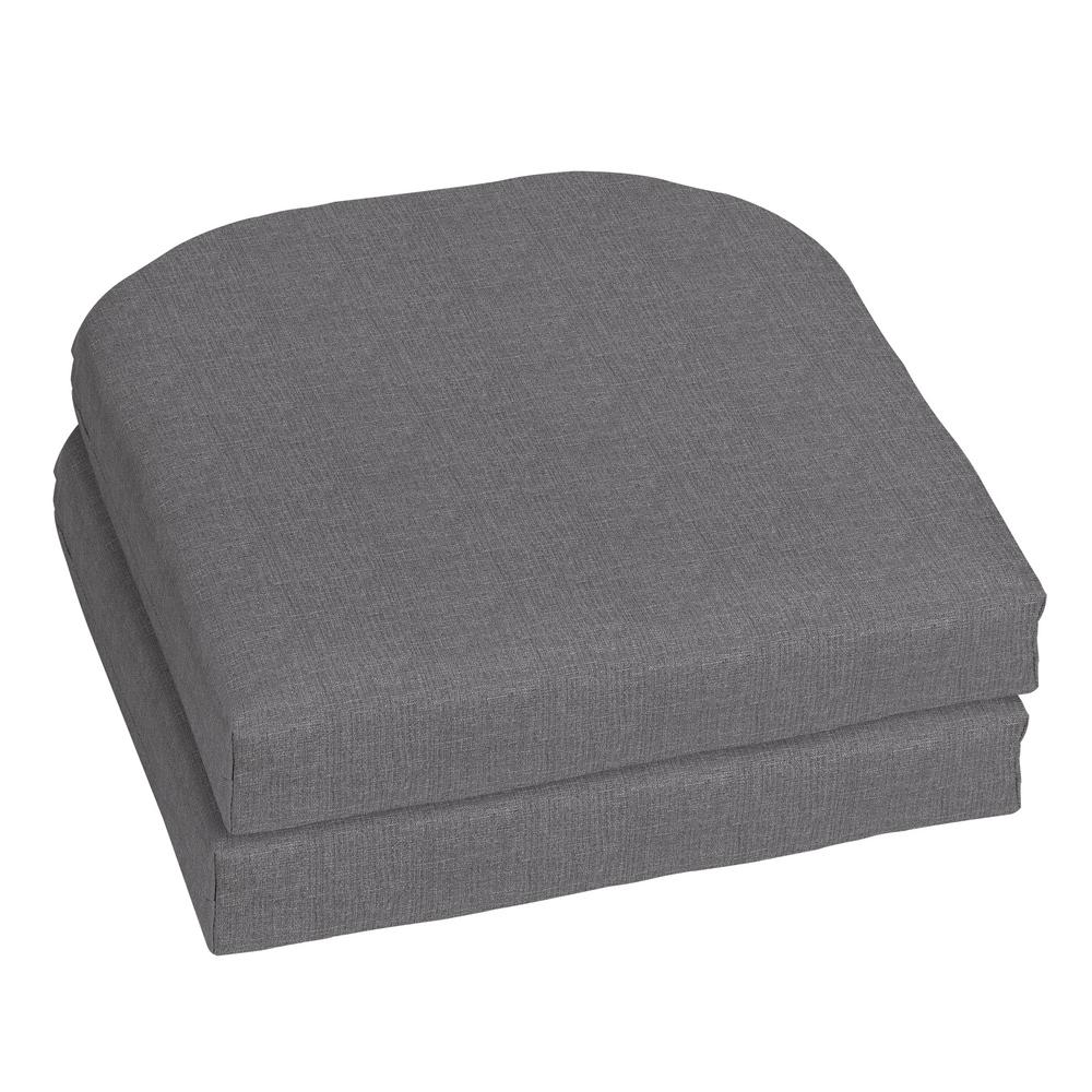 Home Decorators Collection 18 x 18 Sunbrella Cast Slate Outdoor Chair Cushion (2-Pack)