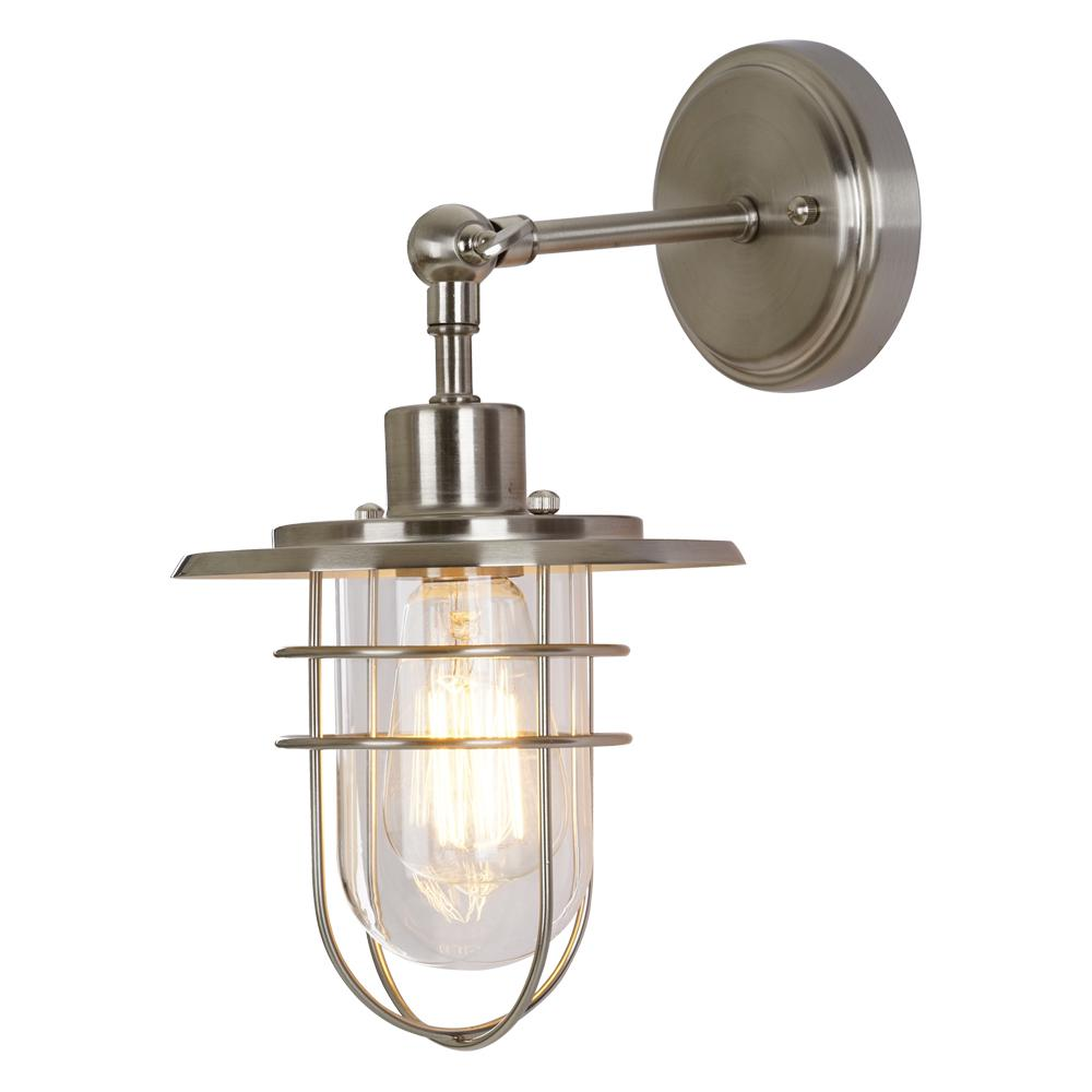 Home Decorators Collection 1-Light Brushed Nickel Wall Sconce